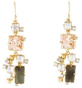 Alexis Bittar Labradorite & Crystal Geometric Drop Earrings