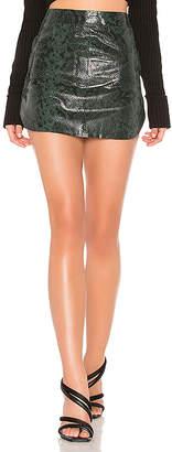 Karina Grimaldi Simon Leather Mini Skirt