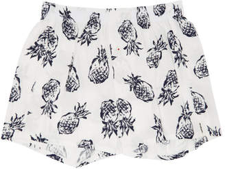 Druthers White Pineapple Patterned Boxers