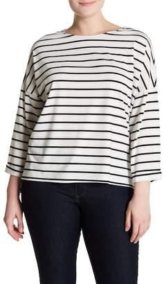 Cotton Emporium Stripe Knit Tee (Plus Size)