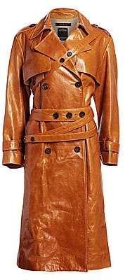 Rokh Women's Leather Trench Coat