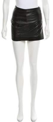 John Richmond Leather Mini Skirt