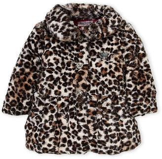 Juicy Couture Girls 4-6x) Snow Leopard Faux Fur Jacket