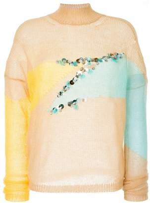 DELPOZO sequin appliqué sweater