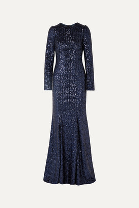 Dolce & Gabbana Sequined Tulle Gown - Royal blue