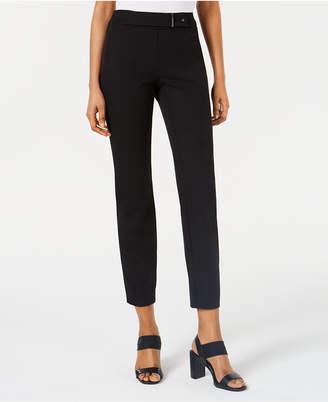 Alfani Hardware-Detail Pull-On Skinny Pants