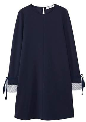 MANGO Striped sleeve appliqu?? dress