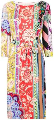Etro printed belted dress