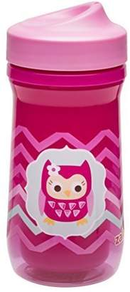 Zak Designs Zak! Designs Toddlerific Perfect Flo Toddler Cup with Pink Owl, Double Wall Insulated Construction and Adjustable Flow Technology, Break-resistant and BPA-free Plastic, 8.7oz.