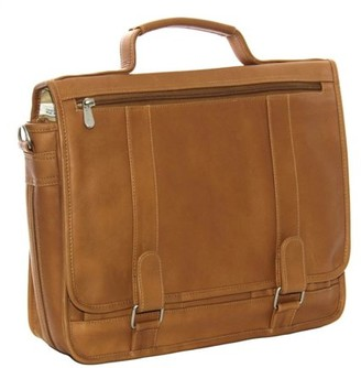 Piel Leather DOUBLE LOOP EXPANDABLE LAPTOP BRIEFCASE