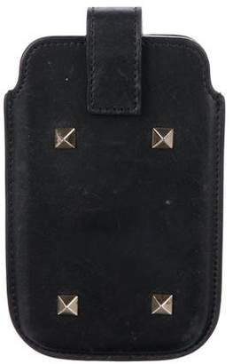 Valentino Rockstud Leather Phone Case