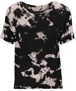 Enza Costa Tie-Dyed Ribbed-Knit T-Shirt