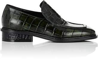 Dries Van Noten Women's Crocodile-Stamped Leather Loafers