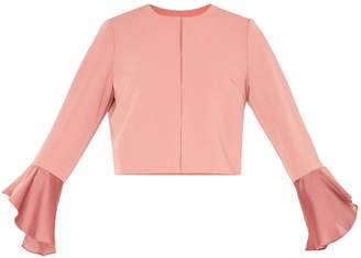 PAISIE - Cropped Jacket With Flared Sleeves In Blush