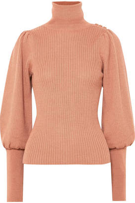 Ulla Johnson Brynn Alpaca And Silk-blend Turtleneck Sweater - Antique rose