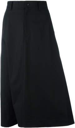 Y-3 midi A-line skirt