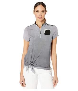 Jamie Sadock Ombre Dots Print Short Sleeve Top with Side Tie