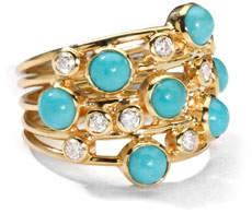 Ippolita Turquoise & Diamond Constellation Ring