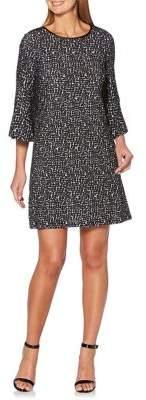 Rafaella Bell-Sleeve Shift Dress