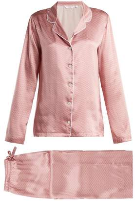 Derek Rose Brindisi 26 Silk Pyjama Set - Womens - Pink