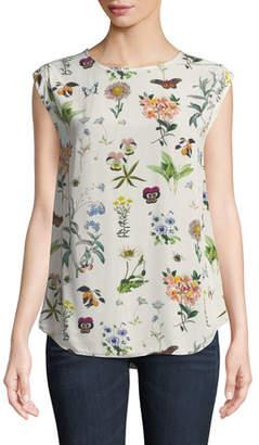 Joie Kelda Floral-Print Sleeveless Top