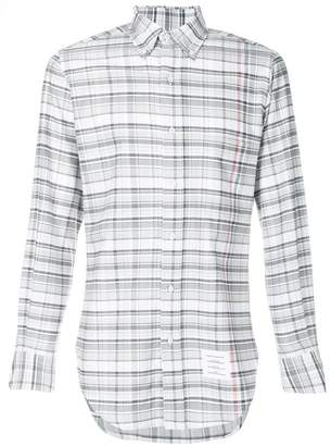 Thom Browne Large Multi-repp Check Classic Long Sleeve Oxford Shirt