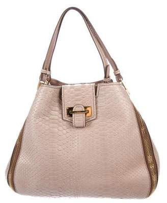 Tom Ford Python Sedgwick Double Zip Tote w/ Tags