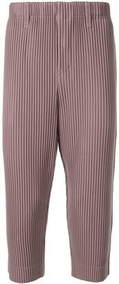 Issey Miyake Homme Plissé pleated cropped trousers