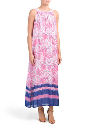 Border Printed Floral Maxi Dress