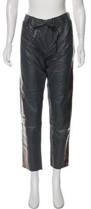 Les Chiffoniers Leather Mid-Rise Straight Pants w/ Tags