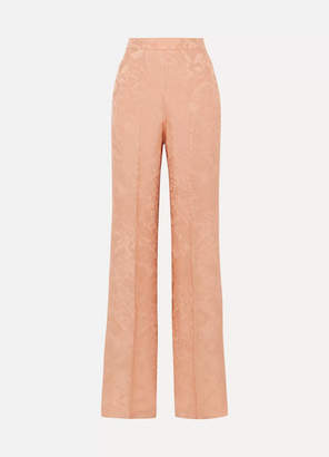 Etro Silk-jacquard Wide-leg Pants - Peach