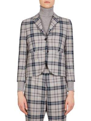 Thom Browne Tartan School Uniform Jacket