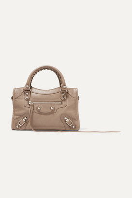 Balenciaga Classic City Aj Textured-leather Tote - Beige