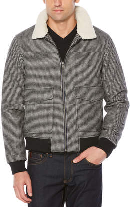 Original Penguin SHERPA COLLAR HOUNDSTOOTH JACKET
