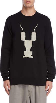 Rick Owens Embroidered Fleece Sweatshirt