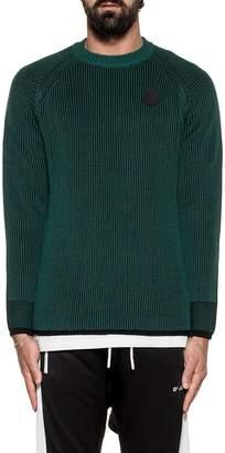 Diesel Green/black K-blend Ribbed Pullover