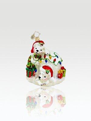 Christopher Radko Pretty Polar Chateau Ornament