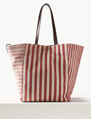 Marks and Spencer Pure Cotton Striped Tote Bag