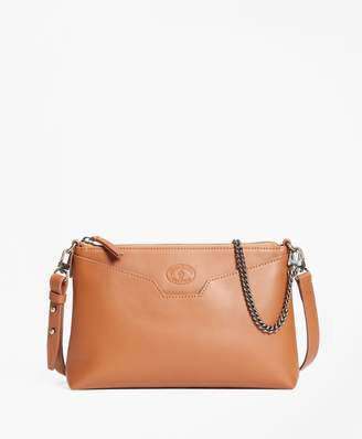 Brooks Brothers Leather Double-Strap Convertible Cross-Body Bag