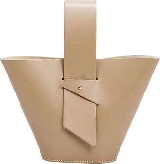 Carolina Santo Domingo Amphora Mini Tan Crossbody Bag
