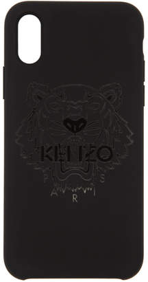 Kenzo Black Tonal Tiger iPhone X Case