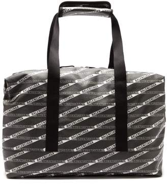 aab0b8d4f Balenciaga Monogram Explorer Faux Leather Gym Bag - Mens - Black White
