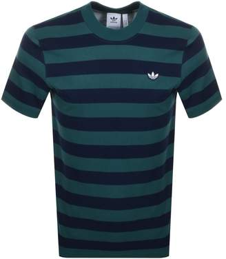 adidas Stripe T Shirt Green