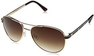 UNIONBAY Union Bay Women's U542 GLDBR Aviator Sunglasses