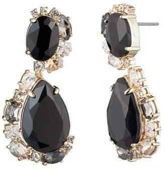 Carolee Stone Swirl Drop Earrings