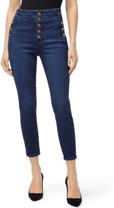 J Brand Natasha Sky High Waist Crop Skinny Jeans