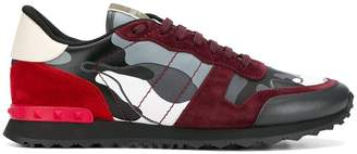 Valentino panelled camouflage sneakers