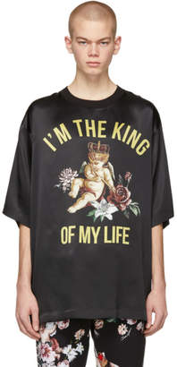 Dolce & Gabbana Black Silk King Of My Life T-Shirt