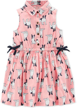 Carter's Toddler Girls French Bulldog-Print Shirtdress