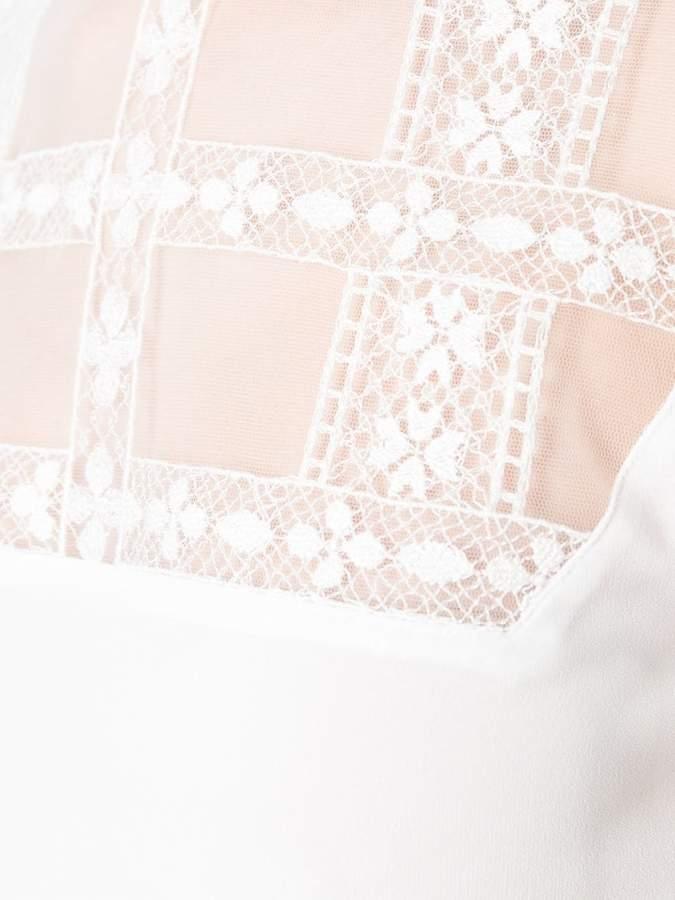 Giamba sheer panel longsleeved blouse
